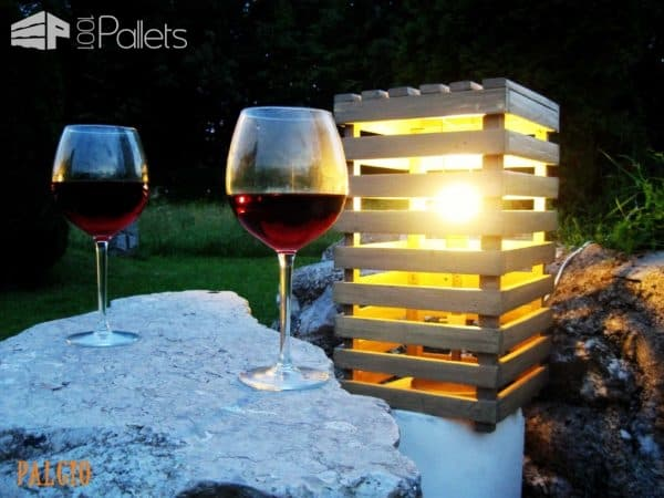 Pallet Romantic Light Pallet Lamps & Lights