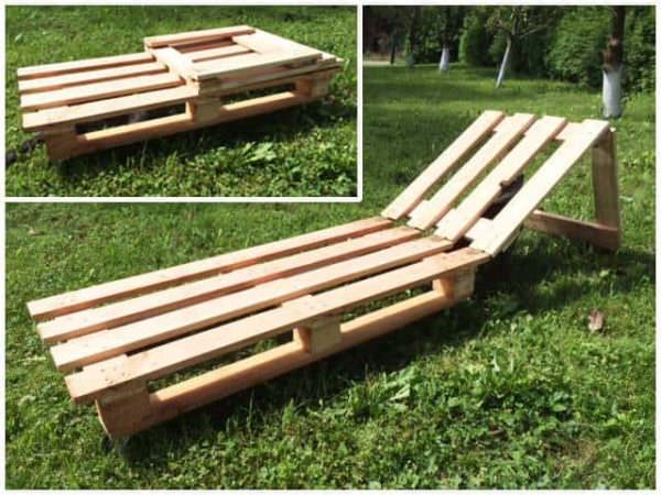 Pallet sunbed 1001 pallets - Lounger for the garden crossword ...