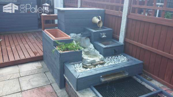 Pallet Water Fountain Pallet Planters & Compost Bins