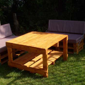 Pallets Garden Idea (Sofa & Table)