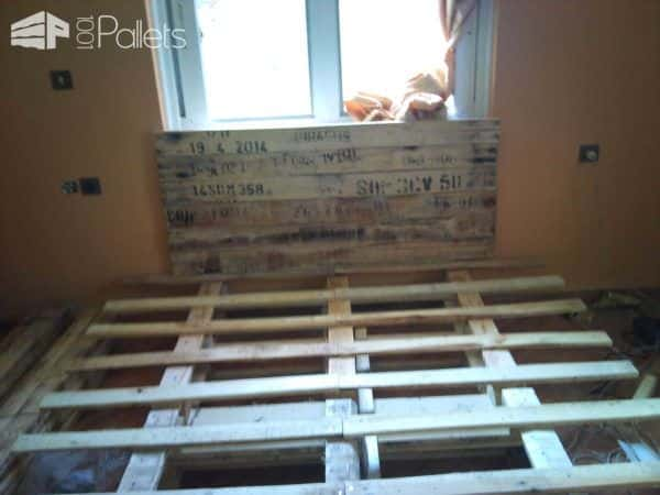 Rustic Pallet Bed DIY Pallet Bedroom - Pallet Bed Frames & Pallet Headboards