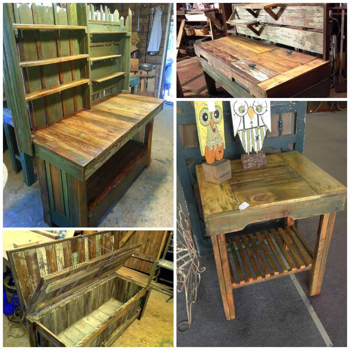 Rustic Pallet Furniture • Pallet Ideas • 1001 Pallets