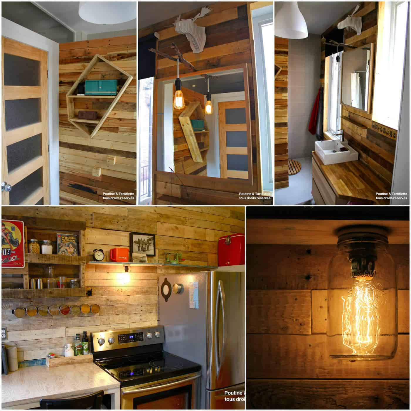 Bathroom Amp Kitchen Pallet Walls 1001 Pallets