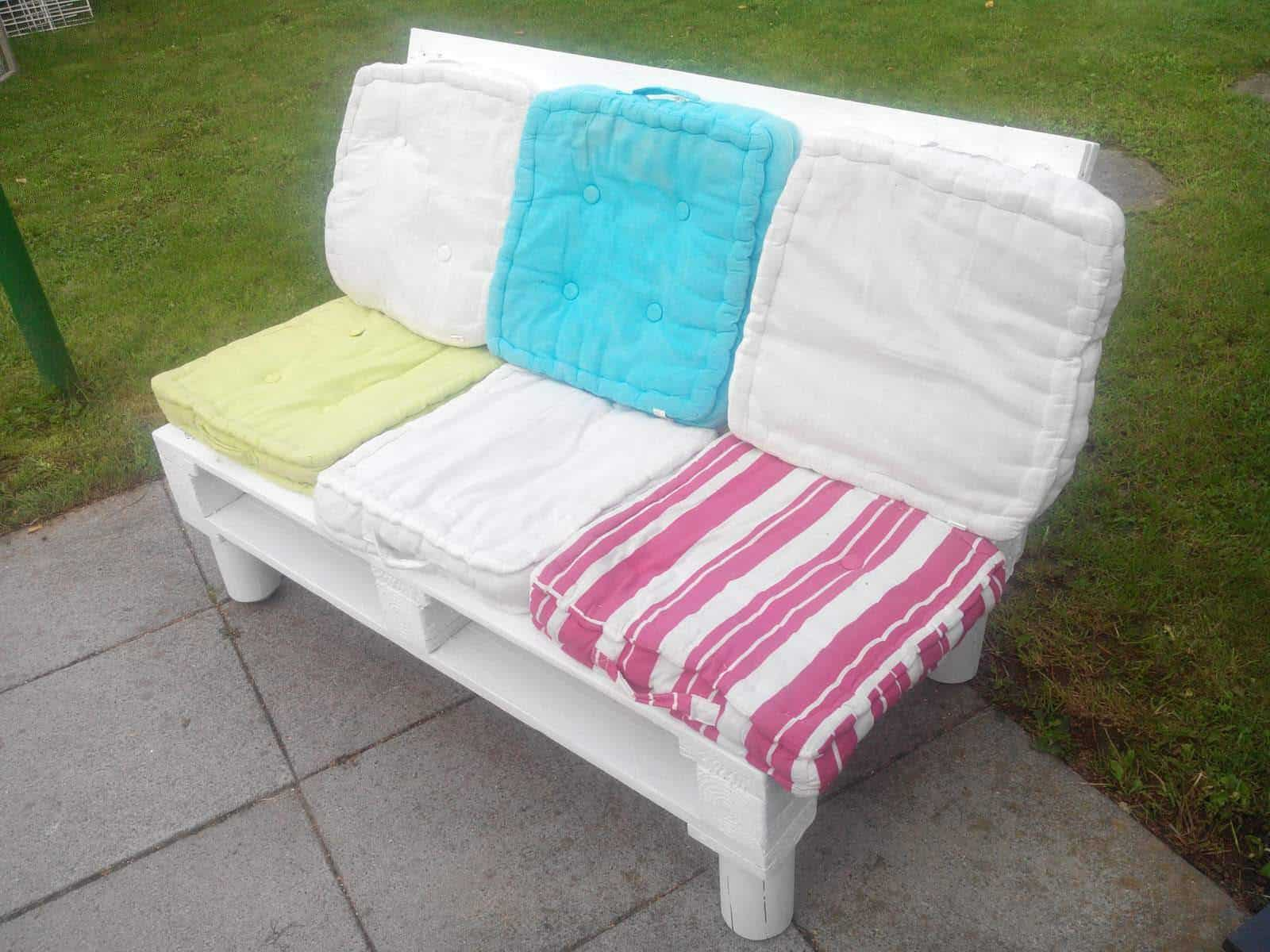 Canapé Shabby Chic shabby chic sofa from recycled pallets • 1001 pallets