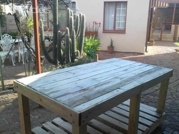 Sturdy Pallet Work Bench Pallet Desks & Pallet Tables