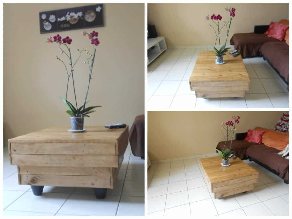Table de salon en palettes pallet coffee table 1001 pallets - Table de salon en palette ...