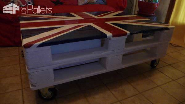 Table De Salon Union Jack Union Jack Pallet Coffee Table 1001 Pallets