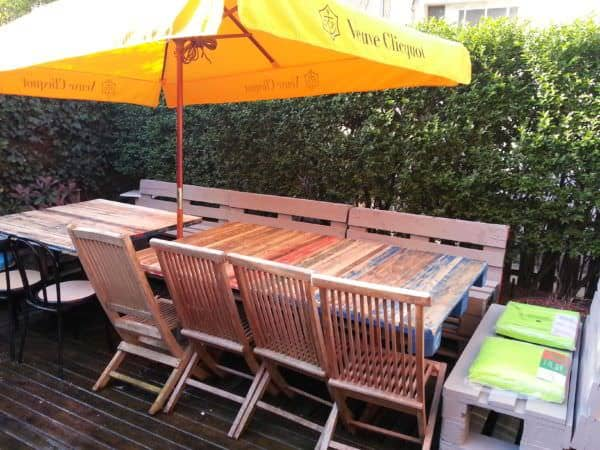 Tables De Jardin / Pallets Garden Table Pallet Desks & Pallet Tables