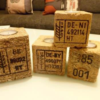 Pallet Blocks Candle Holder