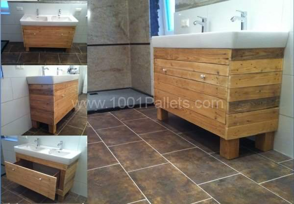 Bathroom Idea With Recycled Pallet Wood Pallet Boxes & Pallet Chests