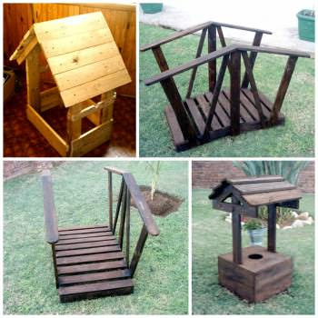 Garden Decorations Made From Pallet Wood