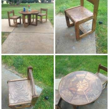 Kids Pallet Table & Chairs