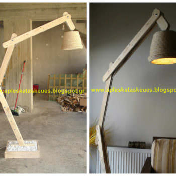 Pallet Floor Lamp By Alex