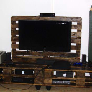 Stand TV & Lampe En Palettes / Pallet TV Stand & Lamp