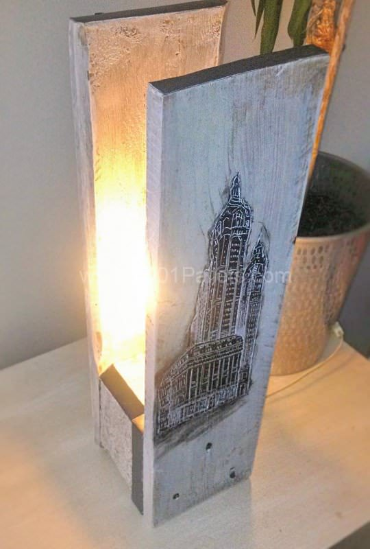 Lampe Building / Pallet Lamp Pallet Lamps, Pallet Lights & Pallet Lighting