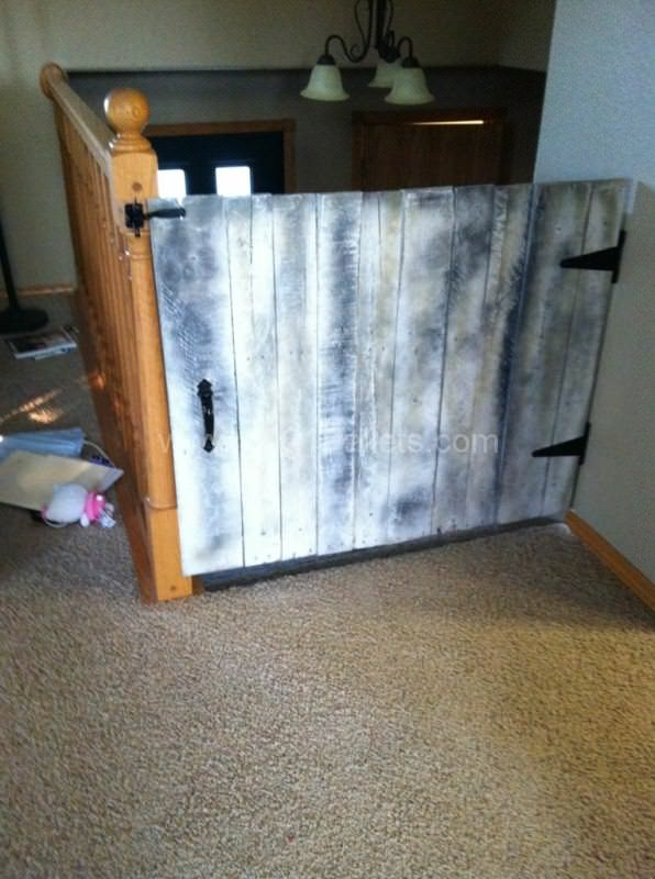 Baby Gate Made From Repurposed Pallets Fun Pallet Crafts for Kids