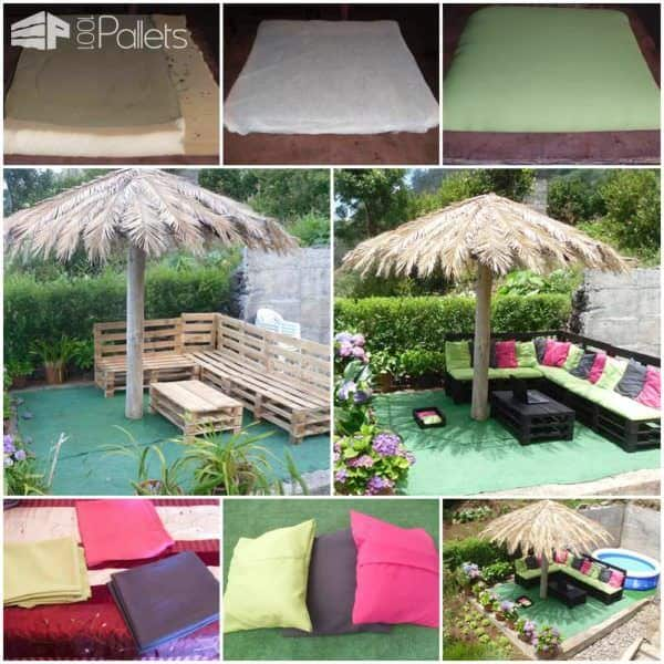 Outdoor Pallet Sofa Lounges & Garden Sets Pallet Sofas