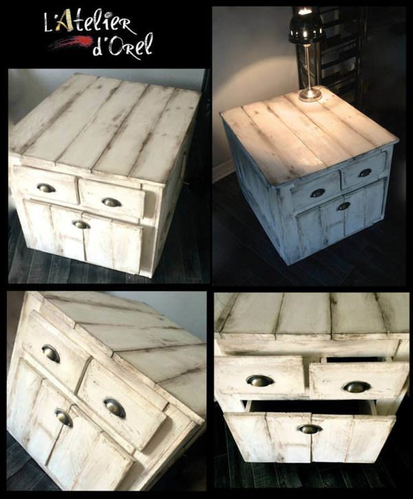 Diy: Pallet Side & Nightstand Pallet Desks & Pallet Tables