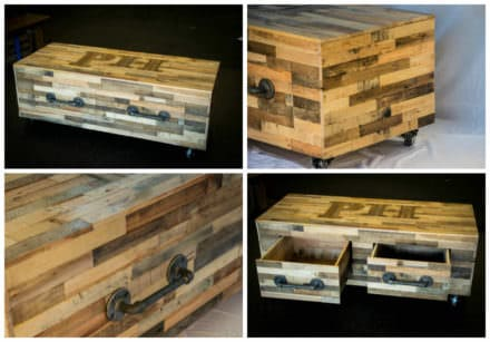 Gorgeous Pallet Coffee Table With Drawers