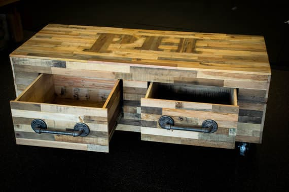 Gorgeous Pallet Coffee Table With Drawers Pallet Coffee Tables
