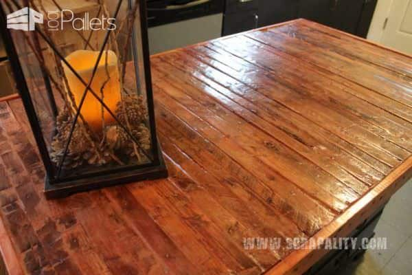 Kitchen Pallet Counter Top & Island DIY Pallet Bars