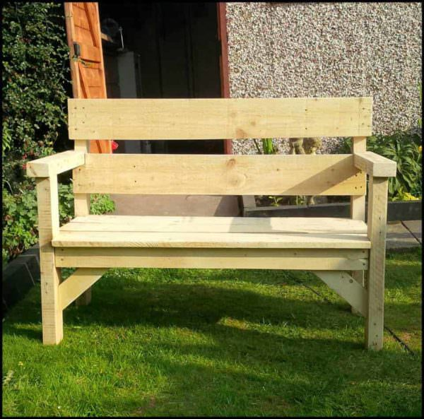 Pallet Garden Bench Pallet Benches, Pallet Chairs & Stools