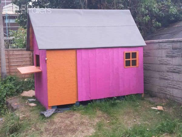 Pallet Kids Playhouse Fun Pallet Crafts for KidsPallet Sheds, Pallet Cabins, Pallet Huts & Pallet Playhouses