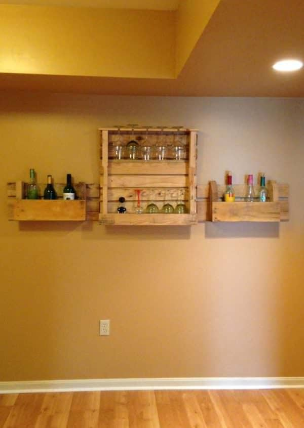 Pallets Wine Rack Pallet Shelves & Pallet Coat Hangers