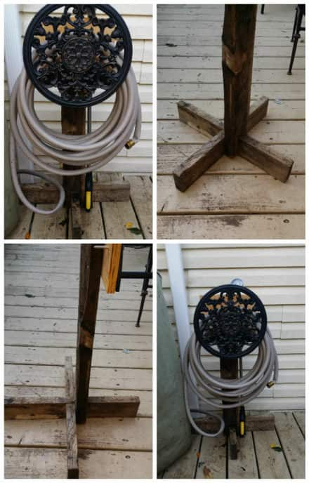Portable Hose Hanger From Hose Mount & Pallet Wood