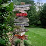 Signpost Made Out Of Pallet Wood