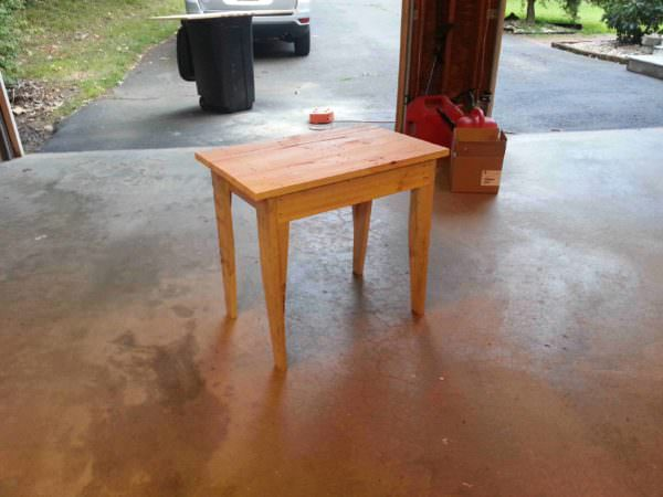 Simple Pallet Table Pallet Desks & Pallet Tables