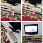 Tv Cabinet With Auto Retractable Drawer Out of 2 Pallets