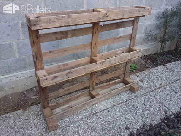 Étagère Pots De Fleurs / Pallet Planter Shelf Pallets in The Garden