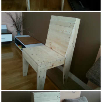 My First Project With Pallets: A Chair