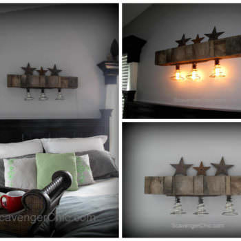 Pallet Wood & Bedsprings Light