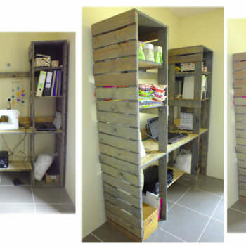 Meuble De Travail En Bois De Palette / Pallet Work Table & Shelves
