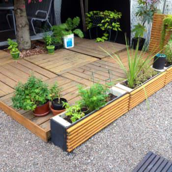 Terrace & Planters Made From Pallets