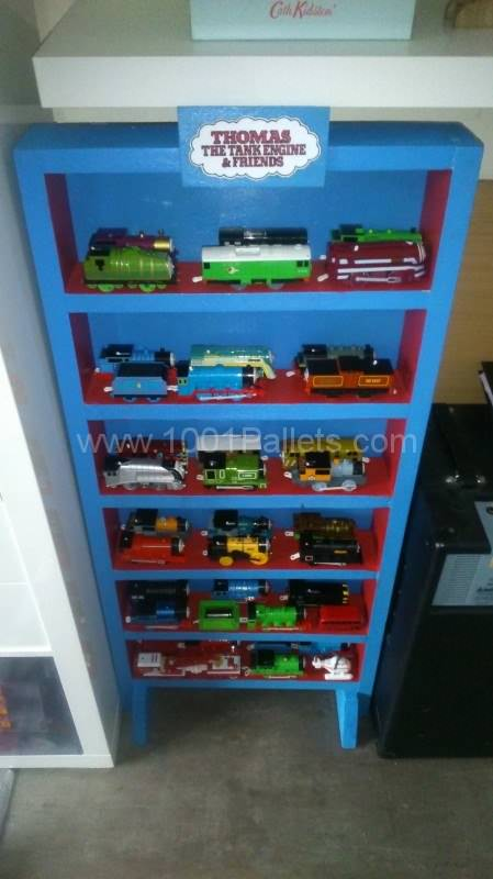 Thomas The Tank Engine Display Cabinet Pallet Shelves & Pallet Coat Hangers