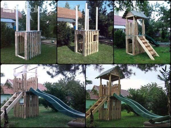 Pallet Kids Castle Fun Pallet Crafts for Kids Pallet Sheds, Pallet Cabins, Pallet Huts & Pallet Playhouses