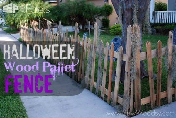 22 Superb Halloween Decorations Using Pallet Wood Pallet