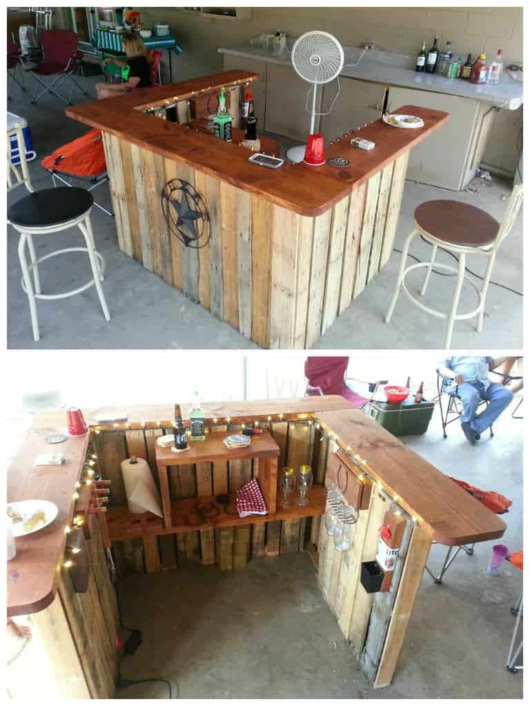 backyard pallet western themed bar u2022 1001 pallets