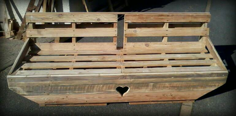 banc en palette pallet bench 1001 pallets. Black Bedroom Furniture Sets. Home Design Ideas