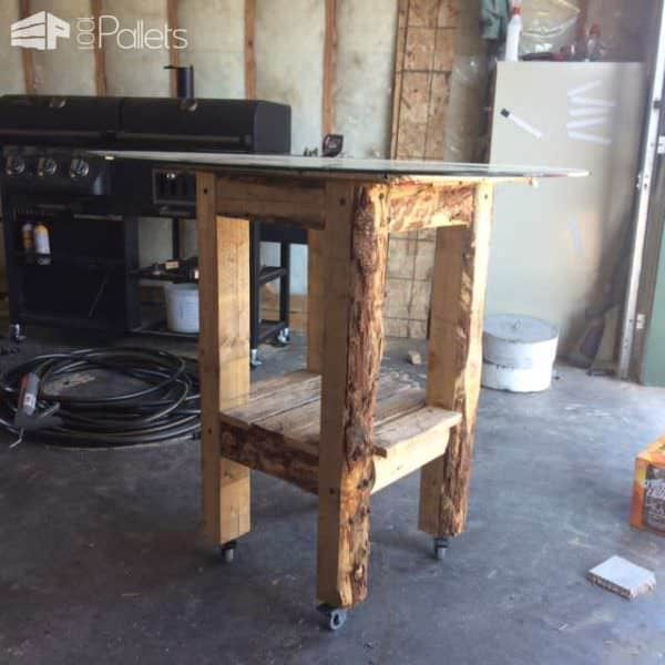 Bar Table Made Out Of Recycled Pallets DIY Pallet Bars Pallet Desks & Pallet Tables