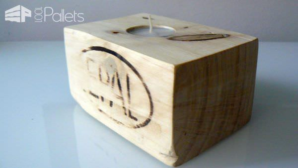 Bougeoirs En Dés De Palette / Candle Holder From Pallet Blocks Pallet Candle Holders