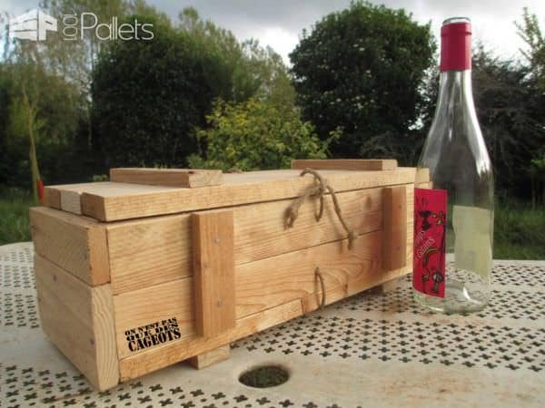 Caisses à Vin / Pallet Wine Box Pallet Boxes & Chests