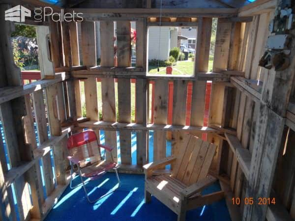 Daughters Pallet Playhouse Pallet Sheds, Pallet Cabins, Pallet Huts & Pallet Playhouses