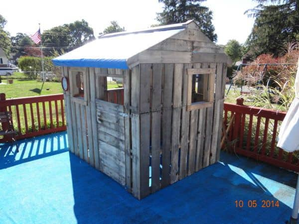 Daughters Pallet Playhouse Pallet Sheds, Cabins, Huts & Playhouses