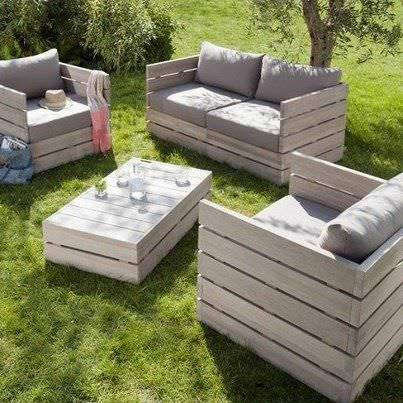 garden furniture ideas from repurposed pallets lounges garden sets - Garden Ideas Using Pallets