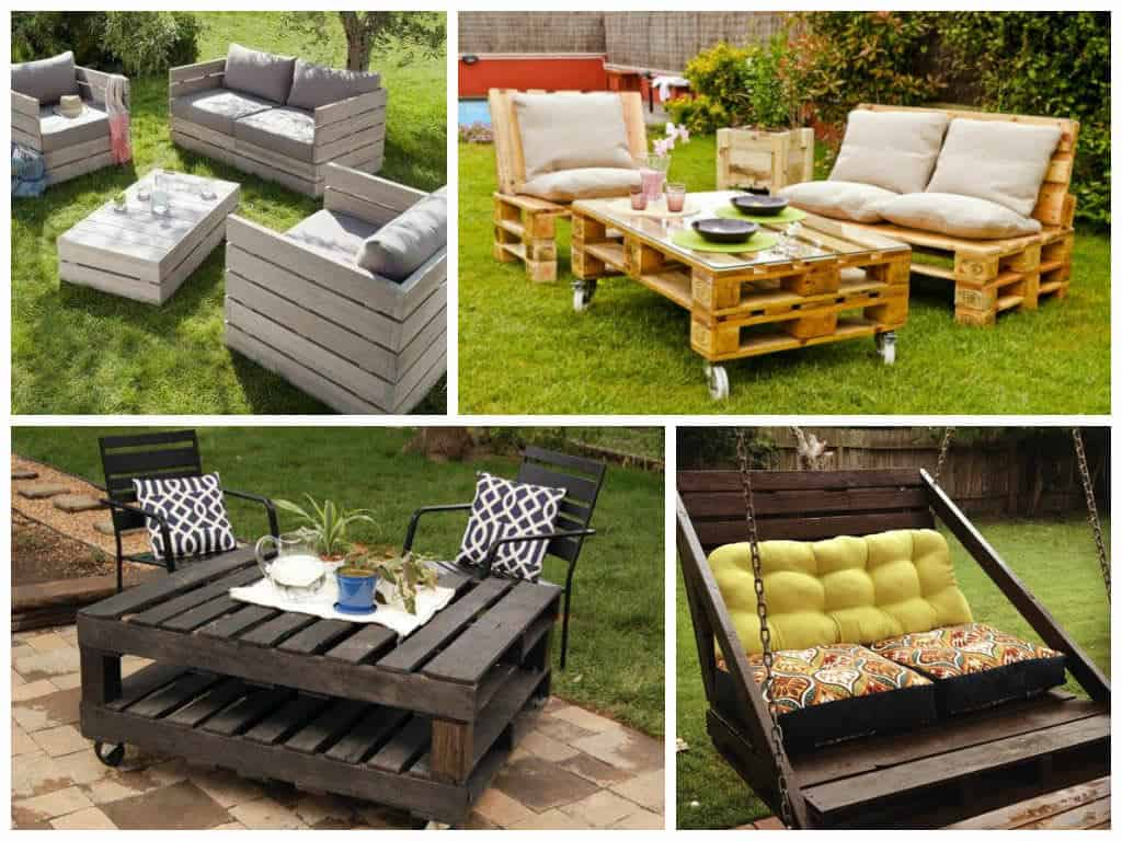 garden furniture ideas from repurposed pallets 1001 pallets - Garden Ideas With Pallets