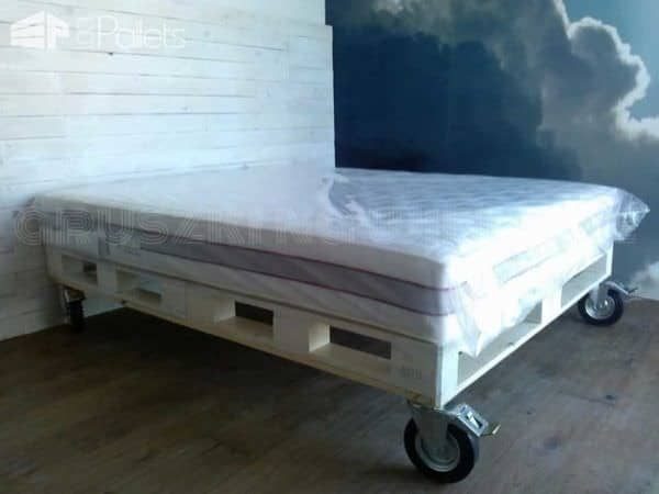 Just Like In Heaven With My Pallet Bed DIY Pallet Bedroom - Pallet Bed Frames & Pallet Headboards
